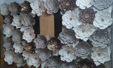گل کاغذی دیواری|گل مقوایی دکوراتیو