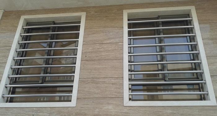 طرح حفاظ پنجره استیل ساده