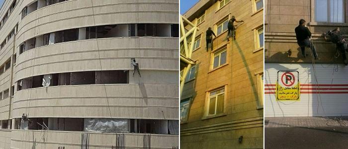 پیچ رولپلاک نمای ساختمان در کرج و تهران